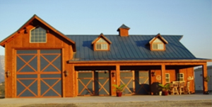 Rv garages w apt the barn factorythe barn factory for Rv barn plans